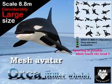 *R&Ms* Mesh avatar orca (LL size)