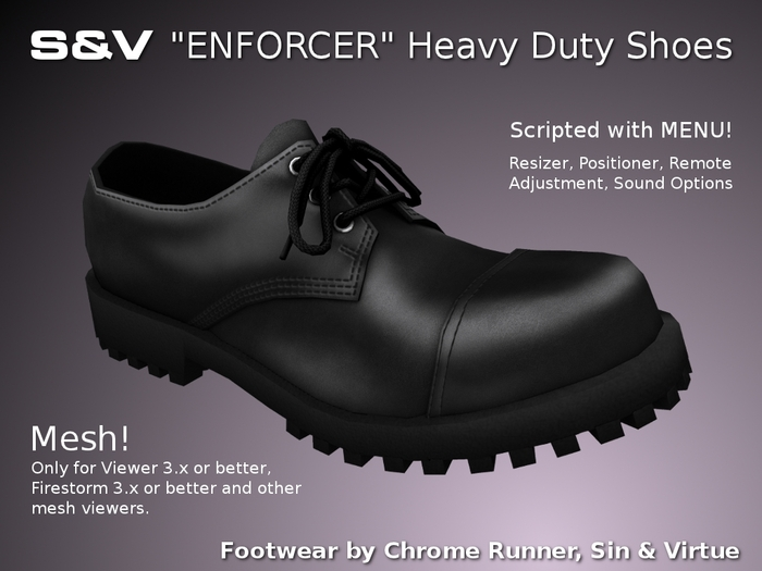 "[:S&V:] ""Enforcer"" Heavy Duty Shoes (MESH)"