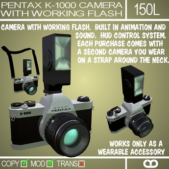 Pentax Camera With Flash