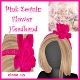 Mercy's Bowtique Box Pink Sequin Flower HB