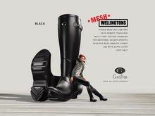 [Gos] MESH Wellingtons in Black