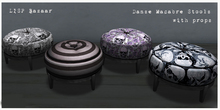 Danse Macabre Stools with props