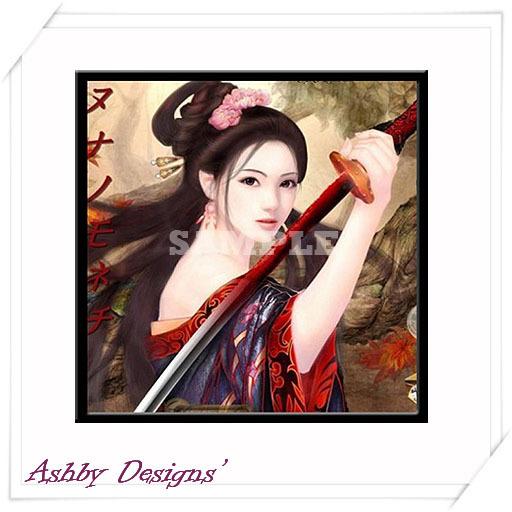 Art Painting ~ Japanese Katana Warrior Picture