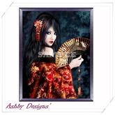 Art Painting ~ Geisha Lady 4