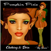 ~*By Snow*~ Pumpkin Pixie (Clothing & Skin)