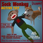 Sock Monkey *Vavoom! Active Toy* (Boxed) - Toys and Accessories for Virtual Kennel Club (VKC®) Dogs No Training Required