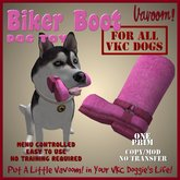 Pink Biker Boot Pet Toy by Vavoom! Boxed - Toys and Accessories for Virtual Kennel Club (VKC®) Pets No Training Required