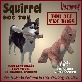 Squirrel Pet Toy by Vavoom! Boxed - Toys and Accessories for Virtual Kennel Club (VKC®) Pets - No Training Required