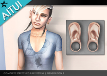 AITUI - (Gen 2) Stretched Ears   [Human, 1 in] _unisex (CLEARANCE)