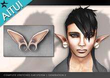 "AITUI - Sculpted Stretched Ears - Elven Tilt 1.5"", Gen 2 _unisex (CLEARANCE)"