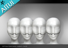 AITUI - Septum Stache Piercings - All  [Unisex]