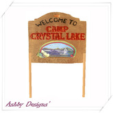Camp Crystal Lake Sign