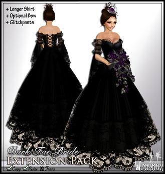 [Wishbox] Dark Fairy Bride - Longer Skirt Extension Pack