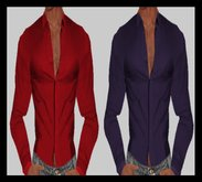 ♡ Bliss Designs ~ La 03 / Sexy Men's Clothes / Sexy Men's Outfit - Men's Red & Violet Shirt