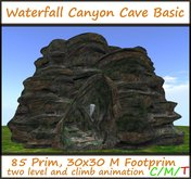 Waterfall Canyon Cave Basic climb anim. 85 prim 30x30m footp.