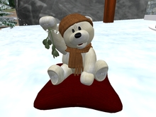 'Snuggle' mistletoe teddy bear