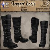 *LightStar - Strapped Boots-Black
