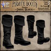 *LightStar - Pirate Boots-Dark Black