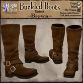 *LightStar - Buckled Boots-Brown