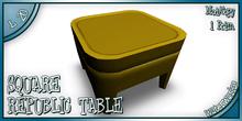 REPUBLIC TABLE SQUARE - YELLOW
