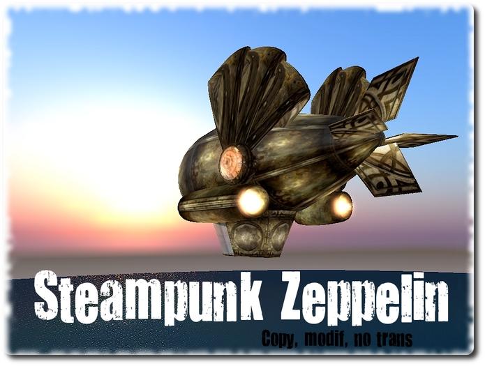 NOW FREE - Fly-Scripted Steampunk Zeppelin by Torie Zeplin