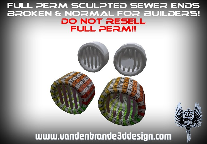 ~Full perm Sewer system ends +  Maps! Easy to texture! Only on marketplace!