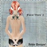 Tattoo ~ Floral Vines V2 Ladies Upper Back Tattoo ~ PROMO