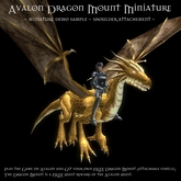 Avalon Dragon Mount - Miniature Sample