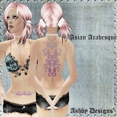 Tattoo ~ Asian Arabesque Ladies Back Tattoo ~ PROMO