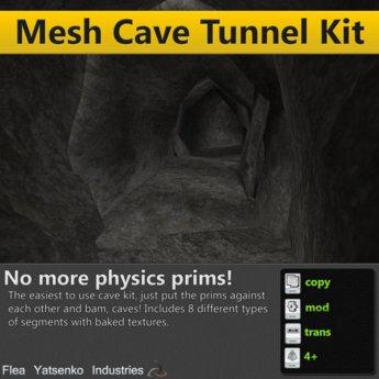 [FYI] Mesh Cave Tunnel Builder's Kit (full perm)