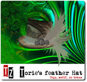 Torie's Feather Hat - Steampunk