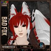 =^.^= Curious Kitties - Color Change Hair - Nyanotech Ears [Type B] - Bad Fox V3