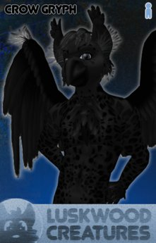 Luskwood Crow Gryph Avatar - Male - Complete Furry Avatar