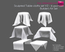 %50SUMMERSALE Full Perm Sculpted Table cloth Set V.2 Builder's Kit Set