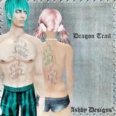 Tattoo ~ Dragon Trail Unisex Upper Body Tattoo ~ PROMO