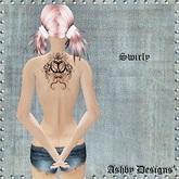 Tattoo ~ Swirly Upper Back Ladies Tattoo ~ PROMO