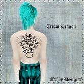 Tattoo ~ Tribal Dragon Upper Back ~ PROMO
