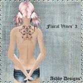 Tattoo ~ Floral Vines V3 Upper Back ~ PROMO