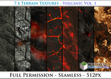 Terrain Textures: Volcano Vol. 1 - Full Permissions