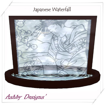 Japanese Waterfall Screen
