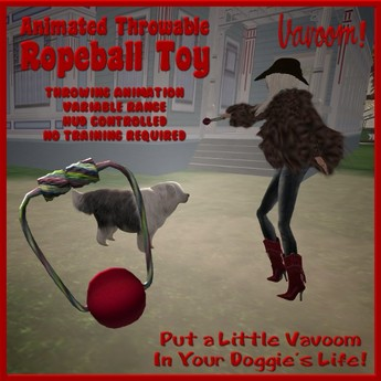 Ropeball Toy by Vavoom! (Boxed) - Toys and Accessories for Virtual Kennel Club (VKC®) Pets - No Training Required