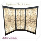 Japanese Shoji Screen Black And Gold