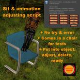 sit & animation adjusting script with chair for tests