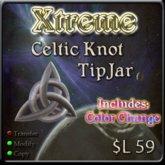 Xtreme 3D Celtic Knot TipJar w/ Color Change ( Triquetra )  - Tip Jar -