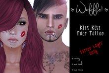 Waffle! Kiss Kiss Lipstick Marks (Face Tattoo)