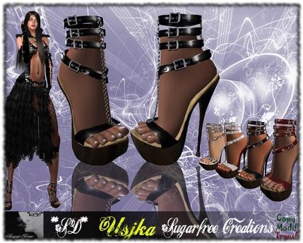 **SD**-USIKA- Shoes Mistress Vampire Hight Heels Gothic Full Option