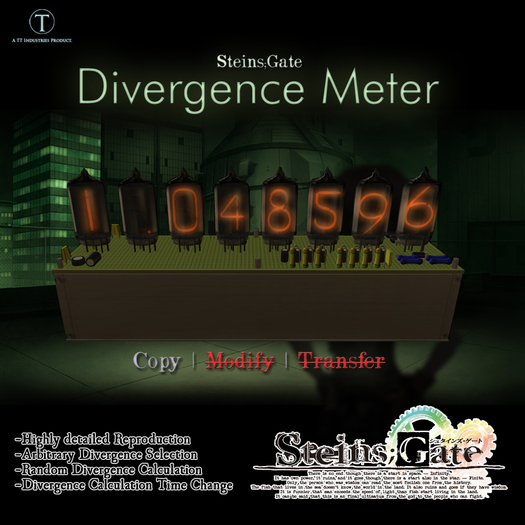 .::TT::. Steins;Gate Divergence Meter SPECIAL INTRODUCTORY PRICE