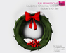 Full Perm Sculpted Christmas Wreath - Builder's Kit Set