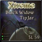 Xtreme 3D Black Widow TipJar  - Tip Jar -