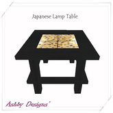 Japanese Lamp Table